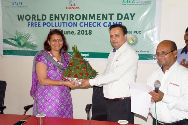 Celebrated World Environment Day at Deccan Honda, Pimpri