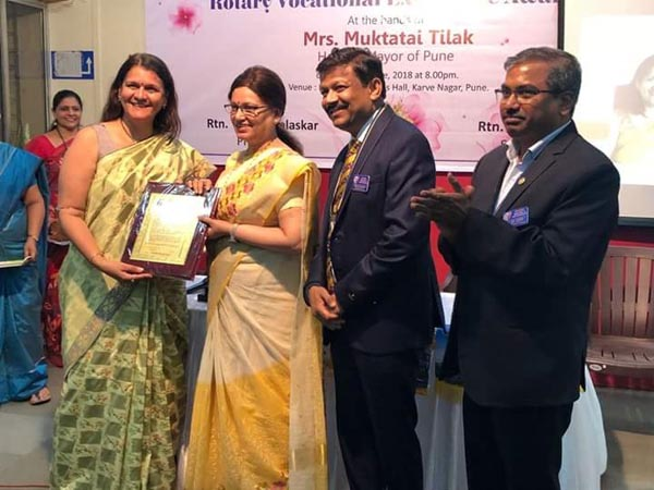 Founder Director TERRE awarded by Rotary Club, Sahawas