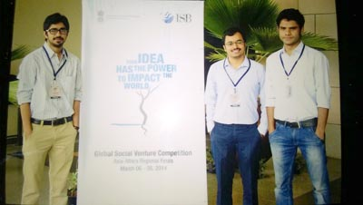 TERRE Team Participated ISB Global Social venture Competition